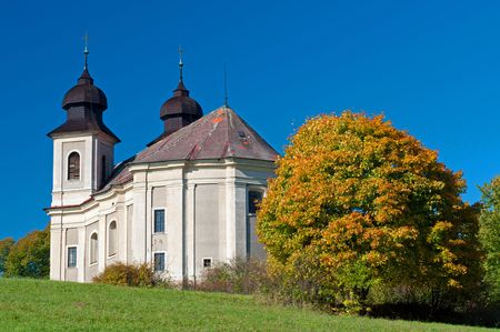 Baroque chapel during the autumn time, sunny day. Stock Photo - 7946381