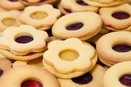 Detail of traditional Christmas pastry, horizontal shot. Stock Photo - 8055637