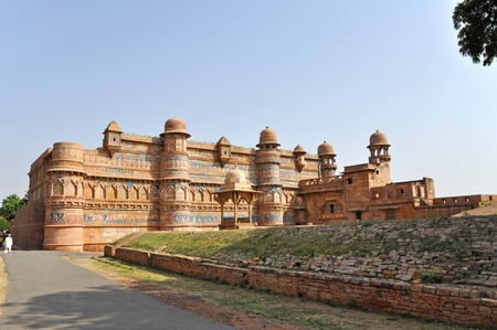madhya: Picture of Gwalior Fort in Madhya Pradesh, India.