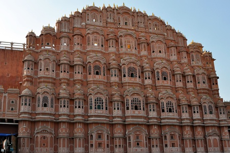jaipur: Palace of Winds in Jaipur, India, horizontal shot.