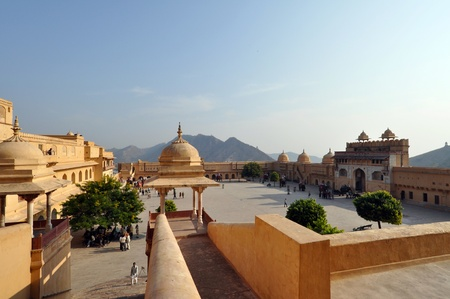 architectural tradition: Amber fort courtyard, picture taken in India.