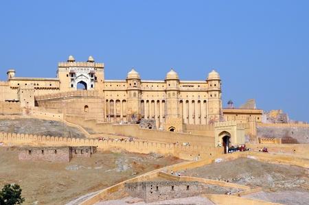 ámbar: Amber Fort, foto tomada en Jaipur, India.