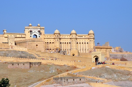 Amber Fort, picture taken in Jaipur, India. Stock Photo