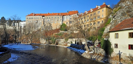 Panorama of Cesky Krumlov, city proteceted by UNESCO. photo
