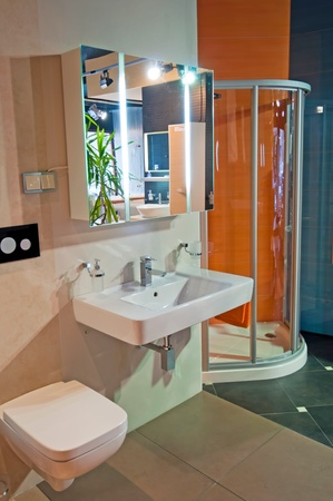 PRAGUE, CZECH REPUBLIC - 30 NOVEMBER, 2010: Picture of a modern and trendy bathroom studio on November 30, 2010. Stock Photo - 8984852