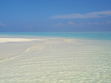 A deserted beach on the tropical island of Maldives. Stock Photo - 9316578