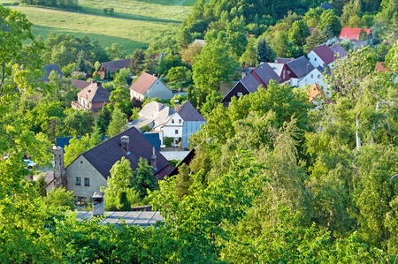 View of traditional village, picture taken in the Czech Republic. Stock Photo - 9750289