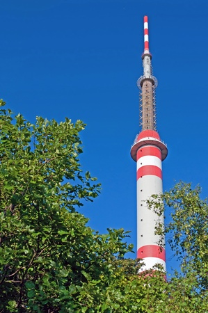 BUKOVA HORA, CZECH REPUBLIC - 2 JUNE, 2011: Picture of TV tower on Bukova Hora on June 2, 2011.