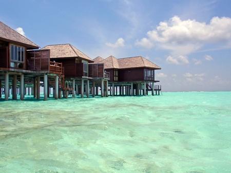 zancos: Para�so en Maldivas, fotograf�a de agua.
