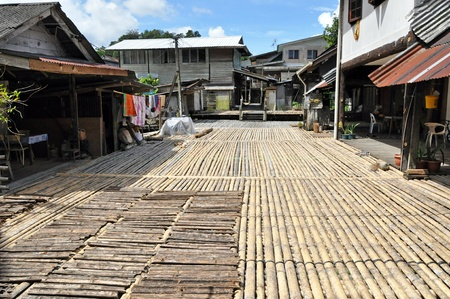 long life: Traditional village originally used by Borneo headhunters.