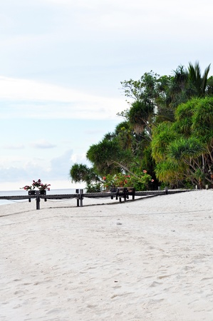 Exotic island with deserted beach near Borneo. Stock Photo - 9958937