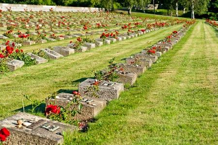 National Memorial Cemetery in Terezin. Memorial to the Holocaust. Stock Photo - 9959081