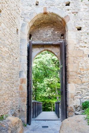 Entrance of Kokorin castle, picture taken in the Czech Republic. Stock Photo - 9958940