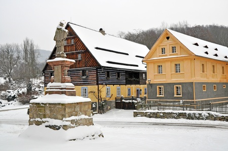 Traditional historic country-style architecture in the Czech Republic. photo