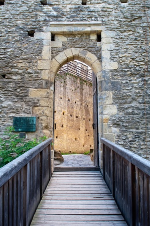 KOKORIN, CZECH REPUBLIC. - JUNE 25: View of entrance of medieval castle Kokorin, picture taken in the Czech Republic on June 25, 2011.. Stock Photo - 10052148