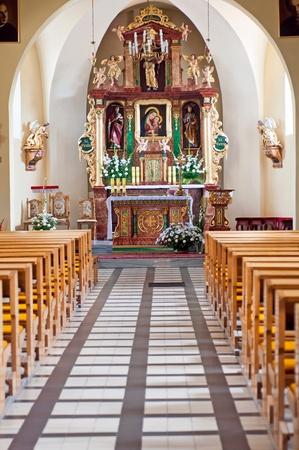 Beautiful church interior, picture taken in Poland, Europe.