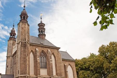 catholic chapel: Roman Catholic chapel known as Ossuary Kostnice at Sedlec near Kutna Hora, Czech Republic. Stock Photo