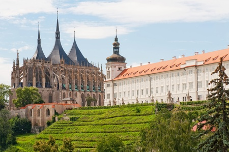 View of Kutna Hora with Saint Barbara