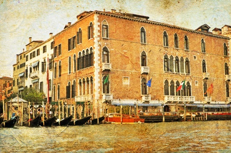 VENICE, ITALY - SEPTEMBER 29: View of Venetian Grand Channel, retro style photo on September 29, 2009 in Venice, Italy.. Stock Photo - 10678790