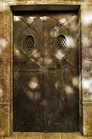 Castle door during the daytime, vertical shot. Stock Photo - 10964305