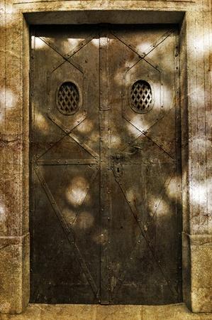 Castle door during the daytime, vertical shot. Stock Photo - 10964305