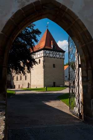 nad: BUDYNE NAD OHRI, CZECH REPUBLIC - AUGUST 18: View of a beautiful castle on August 18, 2011 in Budyne nad Ohri built in romantic style, Czech Republic.