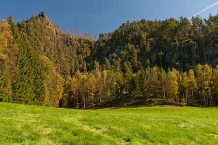 czech switzerland: Splendida natura nel Parco Nazionale del ceco-Sassonia Svizzera.
