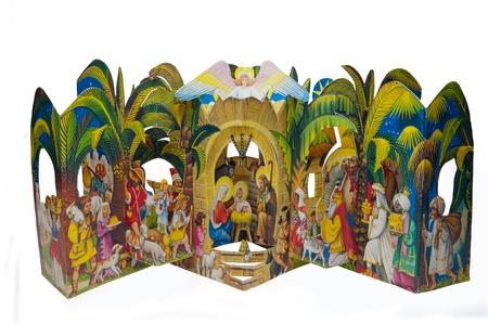 pesebre: Imagen del bel�n de Navidad de papel.
