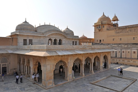 Amber fort courtyard with ancient architecture, picture taken in India. Stock Photo - 11848803