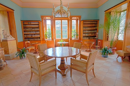 architectural heritage: Castle interior in Velke Losiny, Czech Republic. Editorial