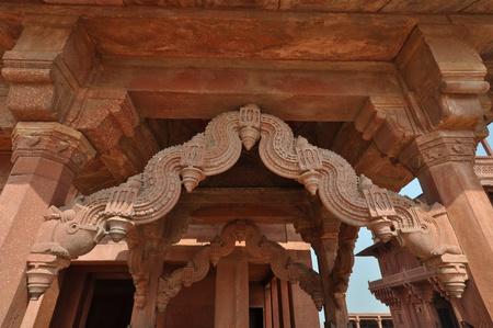 Detailed view of Fatehpur Sikri in Agra in Uttar Pradesh, India.