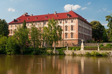 manor: Castle in Libochovice (Czech Republic) is one of the most outstanding early Baroque buildings in the country. There was originally a Gothic stronghold in this place, rebuilt between 1560 and 1564 into a castle.