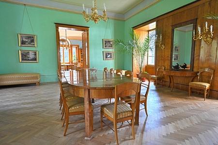 Castle interior in Velke Losiny, Czech Republic.