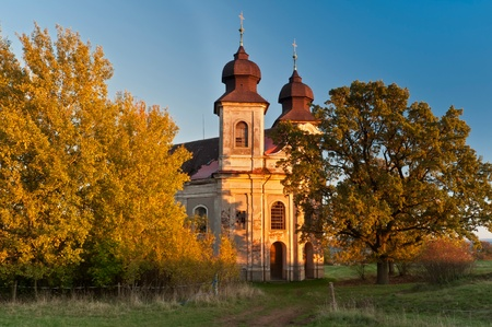 View of a church during the sunset time. Stock Photo - 13354680