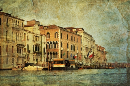 View of Venetian Grand Channel, retro style photo. Stock Photo - 14008572