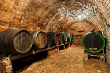tavern: Traditional small wine cellar, picture taken at Moravia, Czech Republic.