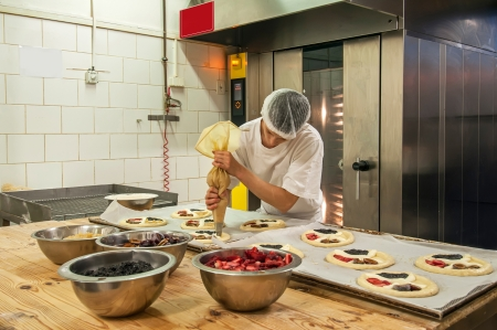 Picture of a production process of Czech traditional pies. Stock Photo - 14564993
