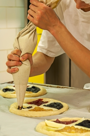 Picture of a production process of Czech traditional pies. Stock Photo - 14568749