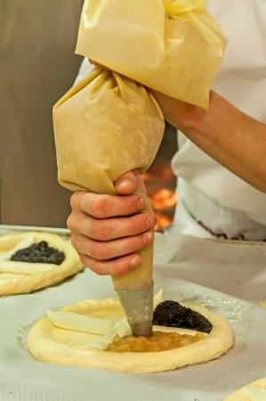 Picture of a production process of Czech traditional pies. Stock Photo - 14568765
