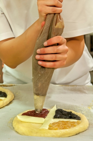 Picture of a production process of Czech traditional pies. Stock Photo - 14568762
