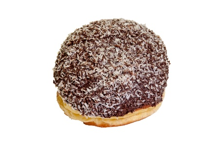 Detail of donut with chocolate and coconut coating. Stock Photo - 15280730