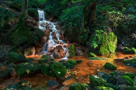 czech switzerland: Vista di bella cascata nella Repubblica Ceca-Svizzera Sassonia.