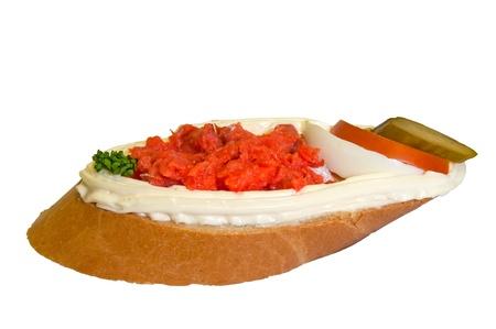 Sandwich isolated on a white background. photo