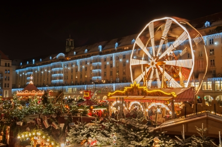 christkindlmarkt: Christmas Market in Dresden. It is Germanys oldest Christmas Market with a very long history dating back to 1434.