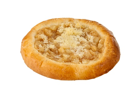 Traditional Czech pie on a white background  photo