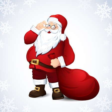 illustration with Santa Claus Vector