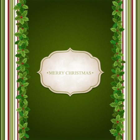 holly leaves: Christmas background with Holly leaves