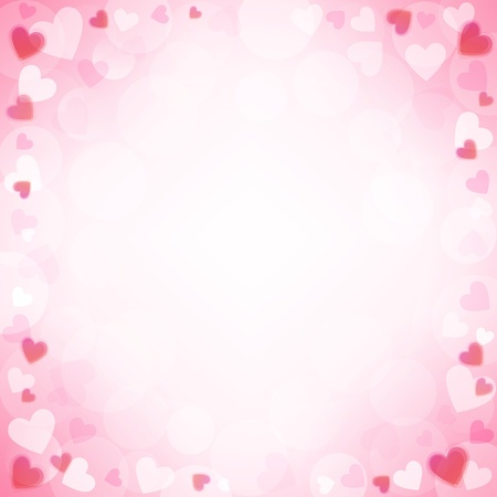 valentine: background with beautiful pink hearts