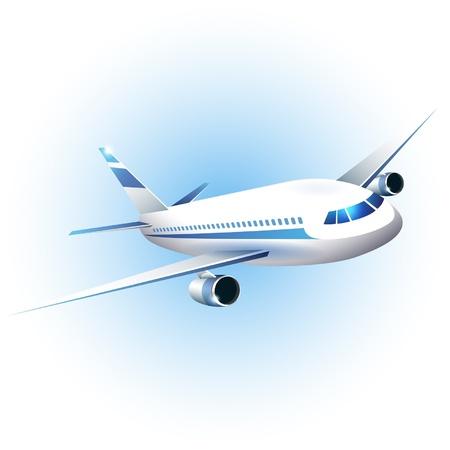 passenger plane: illustration of the airplane
