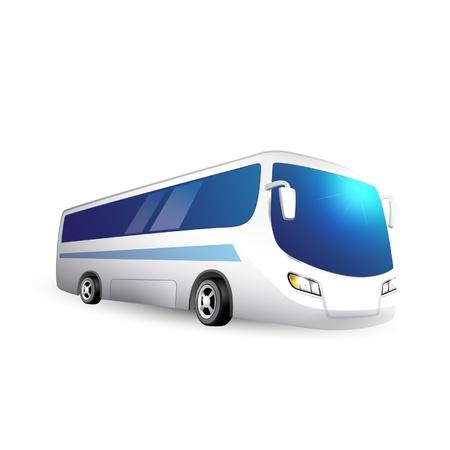 tourist bus: Vector illustration from tourist bus